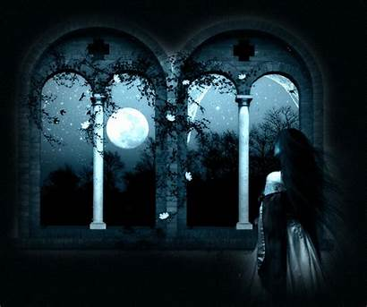 Moon Night Lonely Looking Anime Stars Sad