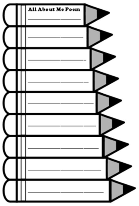 pencil template back to school teaching resources lesson plans and creative writing templates