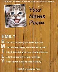 Emily Name Poem