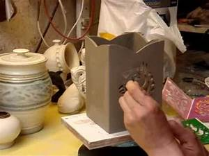 Piercing a Celtic Horse design on a clay pot - YouTube