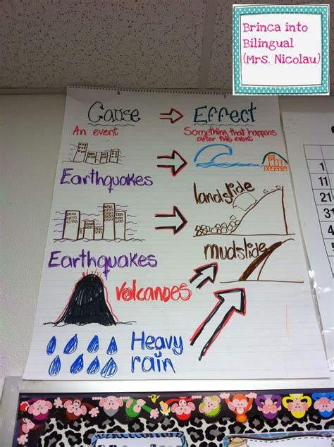 anchor chart  incorporate causeeffect  science