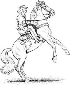 Free Western Horse Coloring Pages
