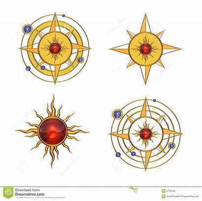Astral Symbols Solar Symboles Solaires Simboli Four