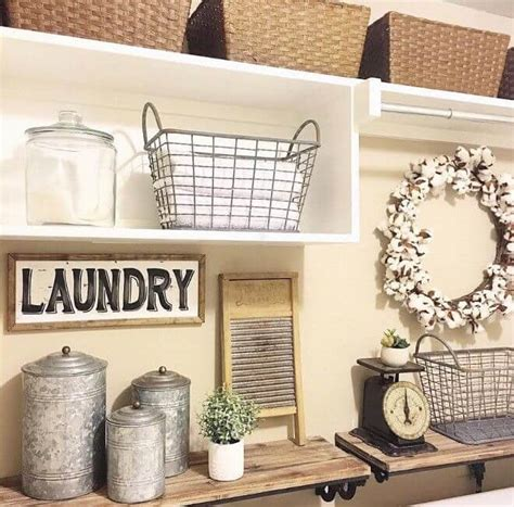 Decorating Ideas For Small Laundry Room by 34 Best Farmhouse Laundry Room Decor Ideas And Designs For