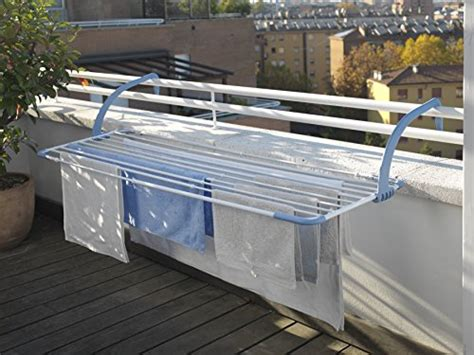 stendibiancheria da ringhiera gimi brezza extend stendibiancheria da balcone in acciaio