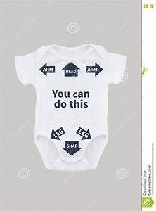 Baby Onesie With Instructions For Dad Stock Photo