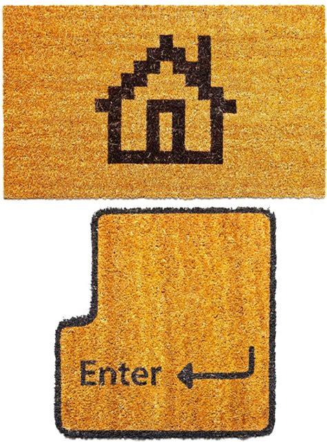 enter doormat geeky enter and home doormats craziest gadgets