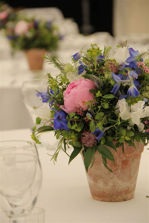 Vintage Terracotta Pots With Your Floral In Each Bridal