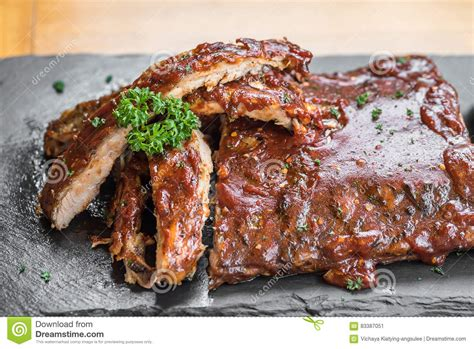 grilled pork ribs grilled pork ribs stock photo image 83387051