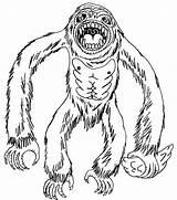 Yeti Coloring Template Ecology Sheet Sketch Disney Bigfoot sketch template