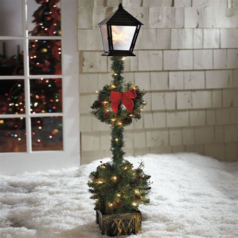 cordless outdoor decorations cordless 5 l post topiary outdoor decor