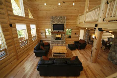 homes interior photos whisper creek log homes oke woodsmith building systems inc