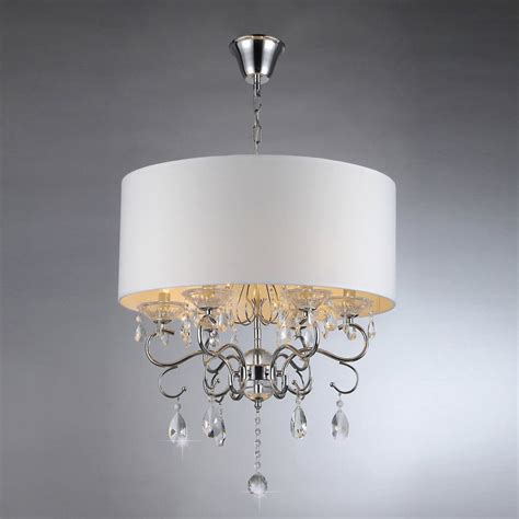 shaded chandelier warehouse of 6 light silver transitional shaded