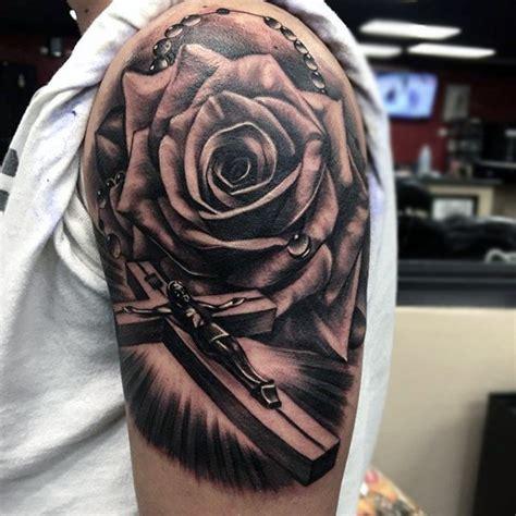 rosary tattoos  men sacred prayer ink designs