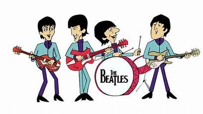 Cartoon Beatles Guitar Band Rock Song Bass