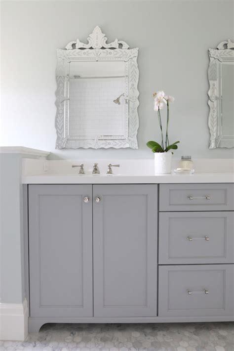 gray dual bathroom vanity transitional bathroom benjamin coventry gray
