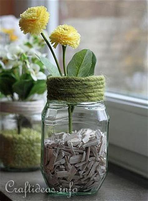 decorating idea  spring recycling craft jar flower