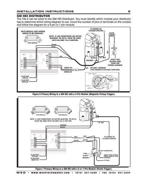 Msd 7al 3 Wiring by Gm Hei Distributor Installation 5 M S D