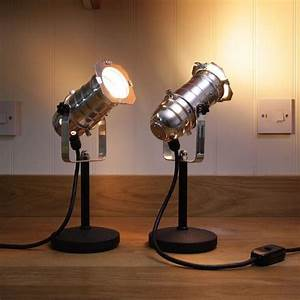 Retro theatre mini table bedside lamps polished lux for The lamp light theater