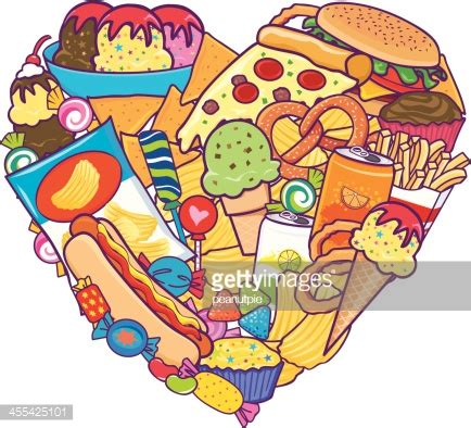id馥s cuisines unhealthy food vector getty images