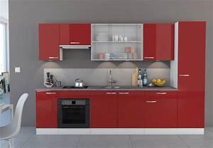 Meuble Colonne Cuisine : colonne cherry rouge brillant blanc ~ Teatrodelosmanantiales.com Idées de Décoration