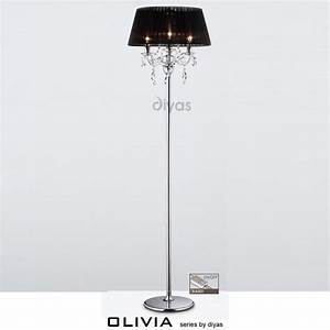 diyas uk olivia il il30063 bl polished chrome crystal With 3 light crystal floor lamp