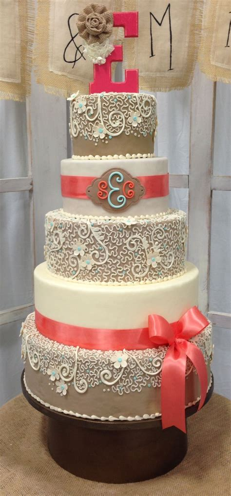 Best 25 Burlap Wedding Cakes Ideas On Pinterest Country