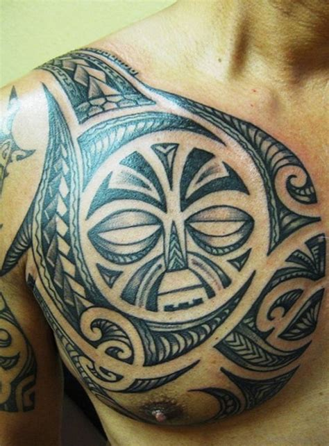 great tribal tattoos  chest