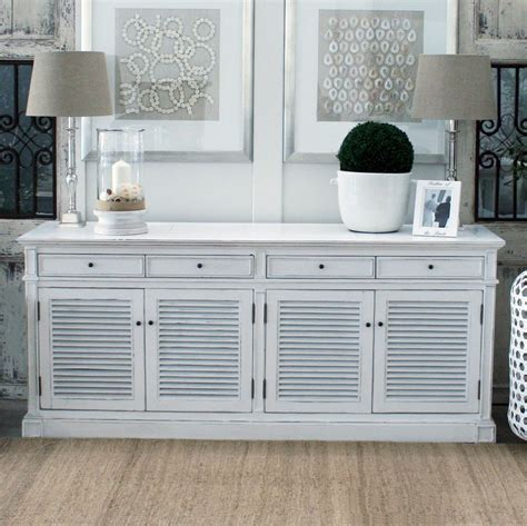Kitchen Hutch For Sale by Portland White Painted Shutters Buffet Or Sideboard