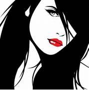 CyberDog - Flash Selfportrait  Beautiful Lady Face Clip Art