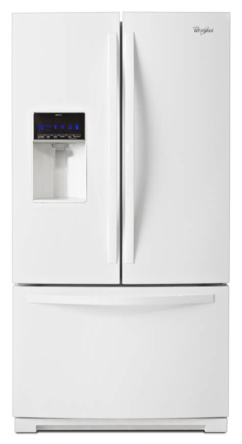 white door refrigerator whirlpool wrf736sdaw 25 cu ft door refrigerator w