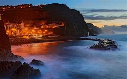 Portugal Madeira Beach Landscape Island Cliff Nature