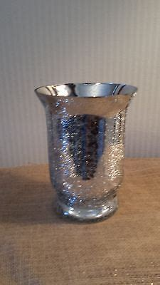 Silver Crackle Vase by 3 Silver Crackle Glass Vase 8 Quot Wedding Decor