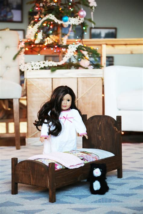 ana white vintage style american girl doll bed diy