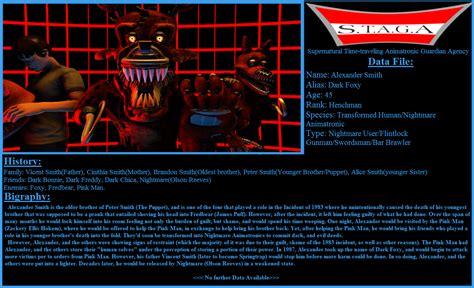 Tpc Character Profile Dark Foxy Fnaf Sfm By