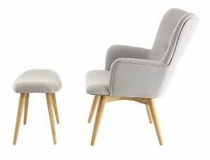 Fauteuil Repose Pied : fauteuil avec repose pieds stockholm gris ~ Teatrodelosmanantiales.com Idées de Décoration
