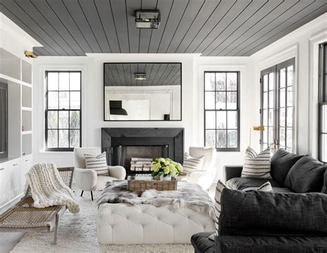 House Tour  Black & White Gets Cozy In This Family Home
