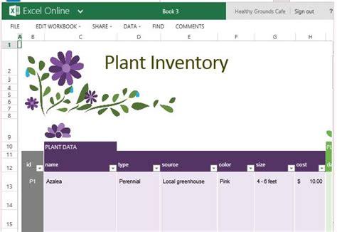 garden planner template  excel