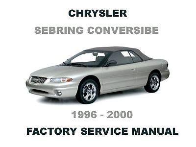 car repair manuals online free 1996 chrysler sebring lane departure warning service manual 1996 chrysler sebring 1996 chrysler sebring convertible owners manual pdf