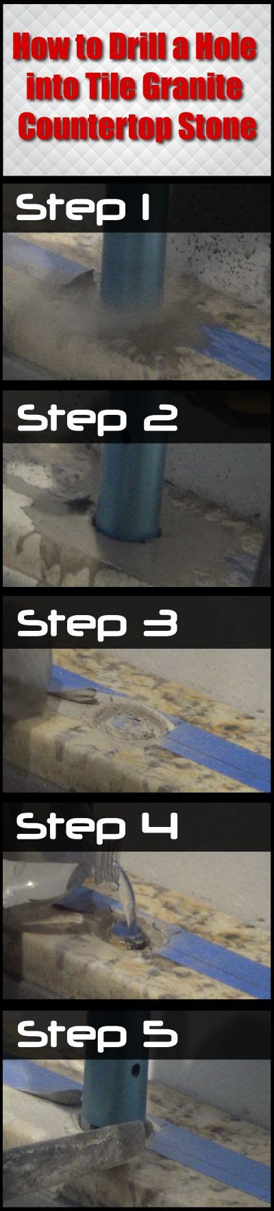 how to drill a into tile granite countertop a