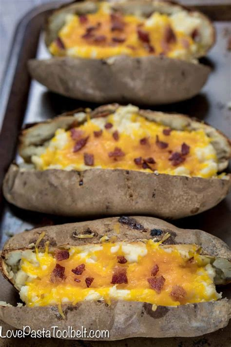 cheesy  baked potatoes side dish cheese sour