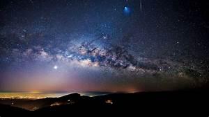 Milky Way  Meteor And Ariane 5 Rocket Seen Over Doi