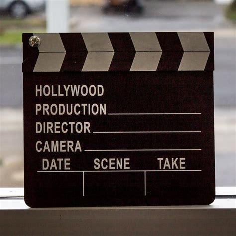 Hollywood Movie Clapper Board   Lights! Camera! Action