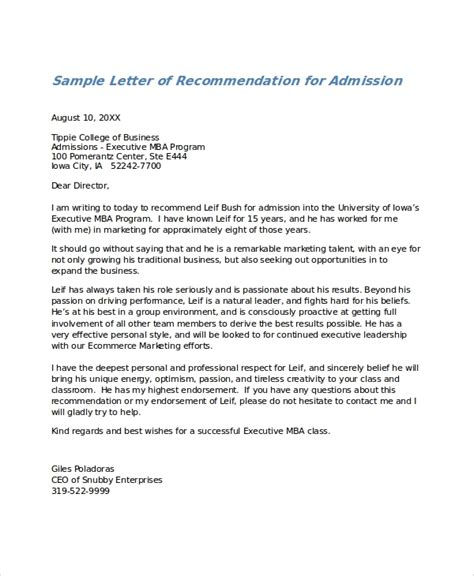 basic letter  recommendation template letters