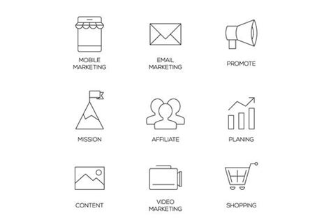 business marketing outline icons  images business