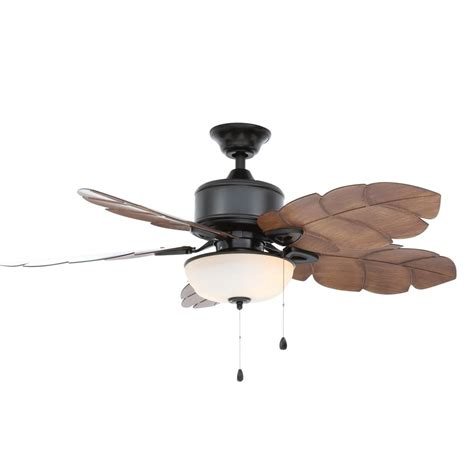outdoor ceiling fans with led lights home decorators collection palm cove 52 in led indoor