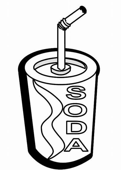 Clipart Unhealthy Snack Printable Clip Cliparts Soda