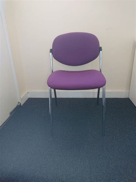 purple chrome stackable chair  meeting chairs
