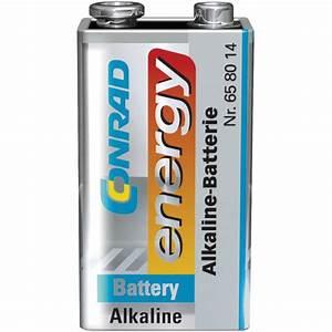 Conrad Energy Alkaline-Manganese 9V Battery   Rapid Online