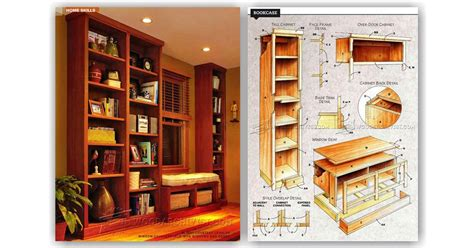 built  bookcase plans woodarchivist